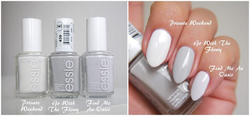 Essie Private Weekend, Find Me An Oasis, Go With The Flowy