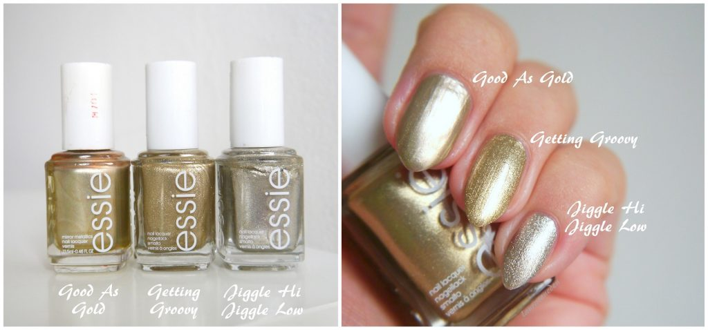 Essie Good As Gold, Getting Groovy, Jiggle Hi Jiggle Low