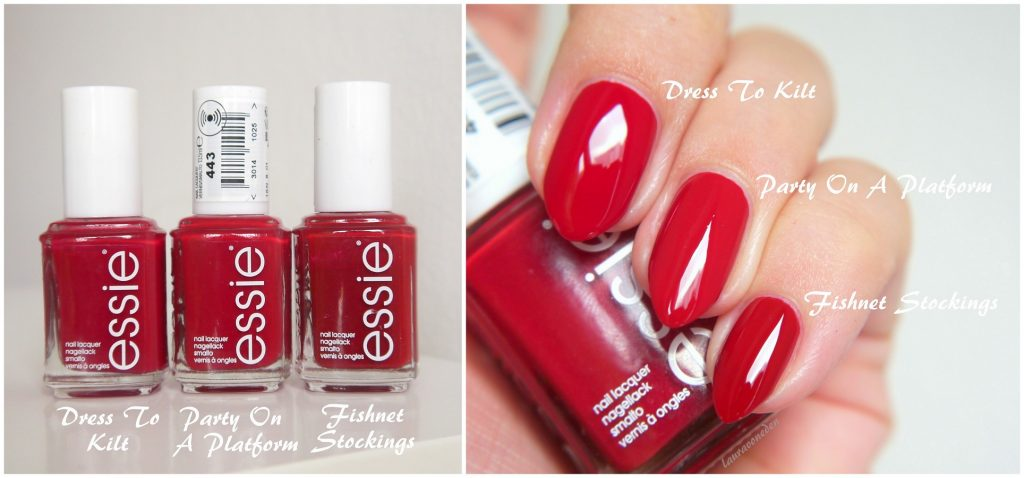Essie Party On A Platform, Dress To Kilt, Fishnet Stockings